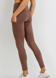 Ribbed and smooth four-way stretch legging