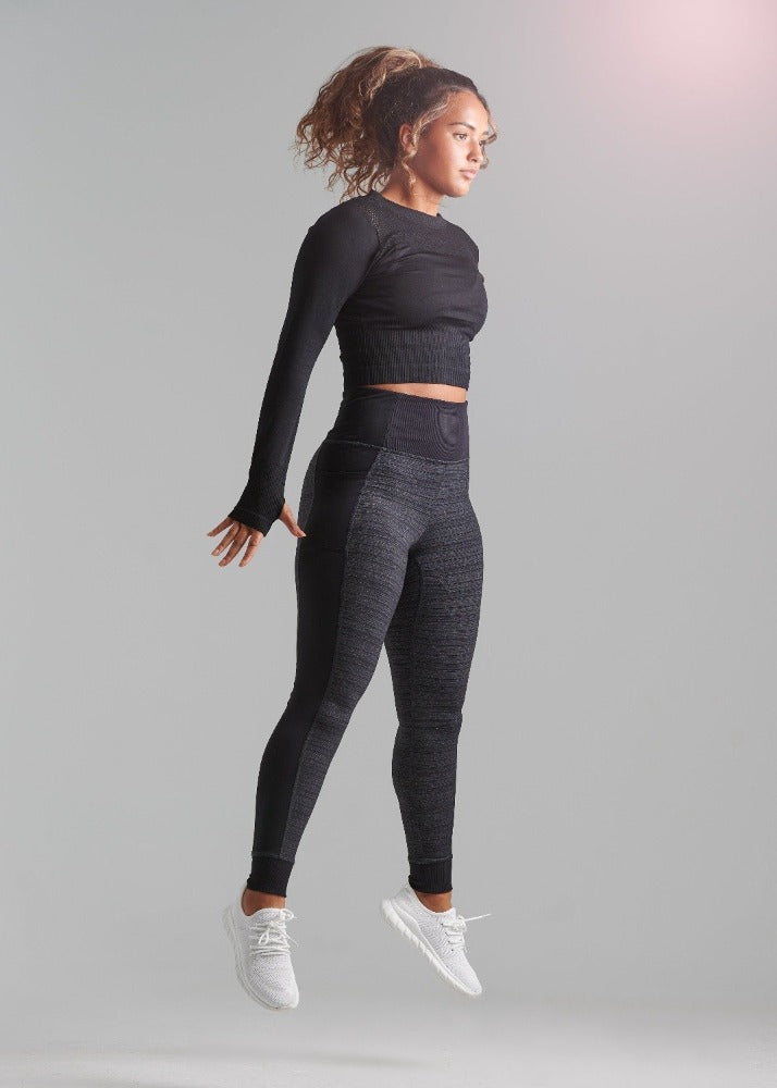 Two-Toned Black and Grey legging