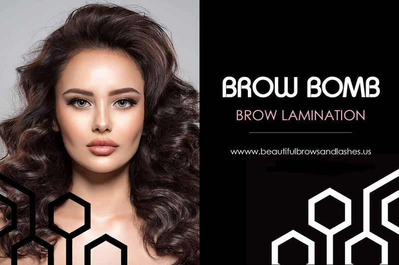PERSONALIZED Brow Bomb Advertisement PostCard - Beautiful Brows and Lashes Professional