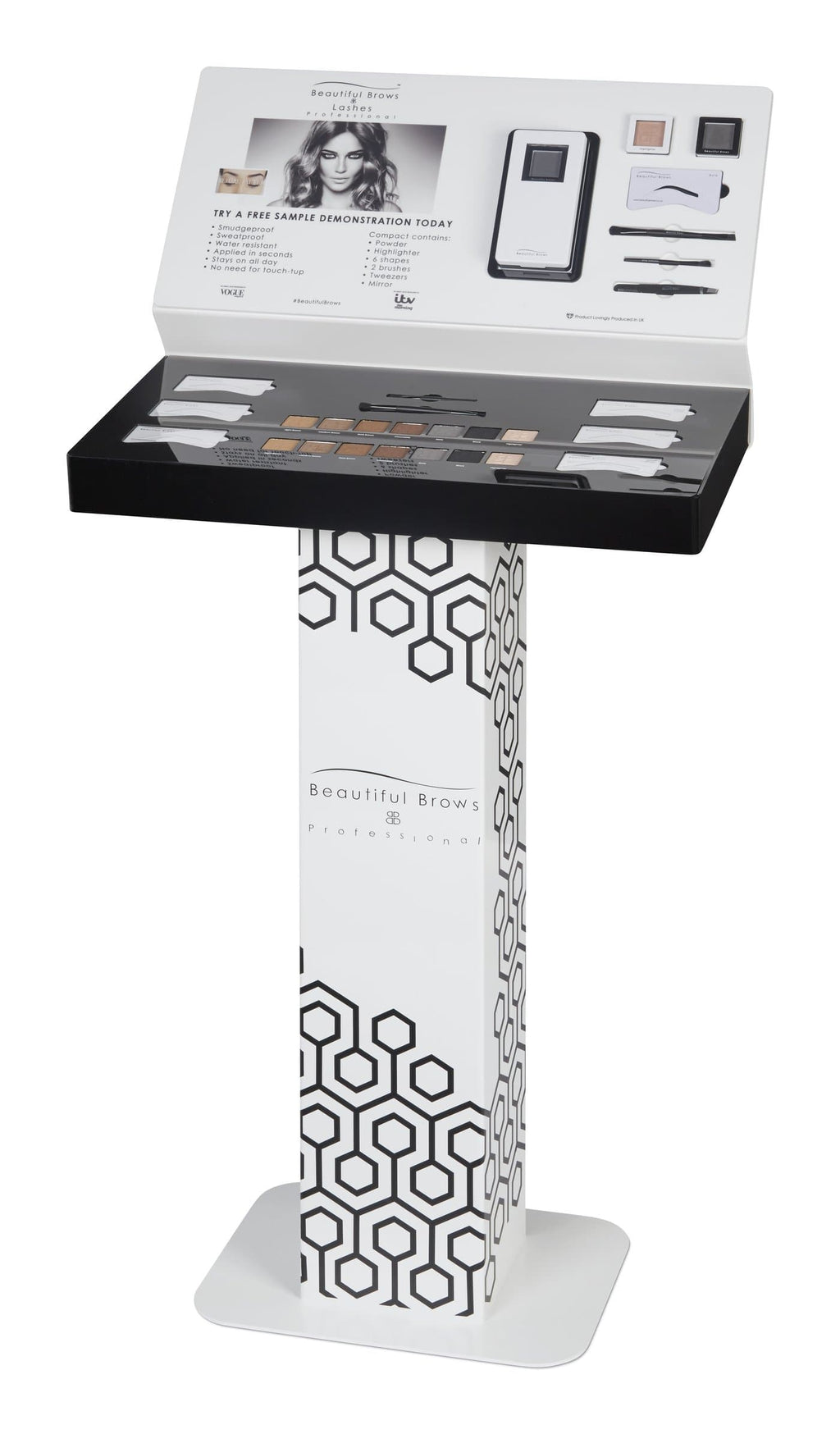 Free Standing Professional Unit (Compacts included) Wholesale - Beautiful Brows and Lashes Professional