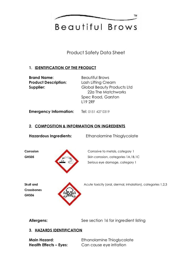 MSDS - Cleansers
