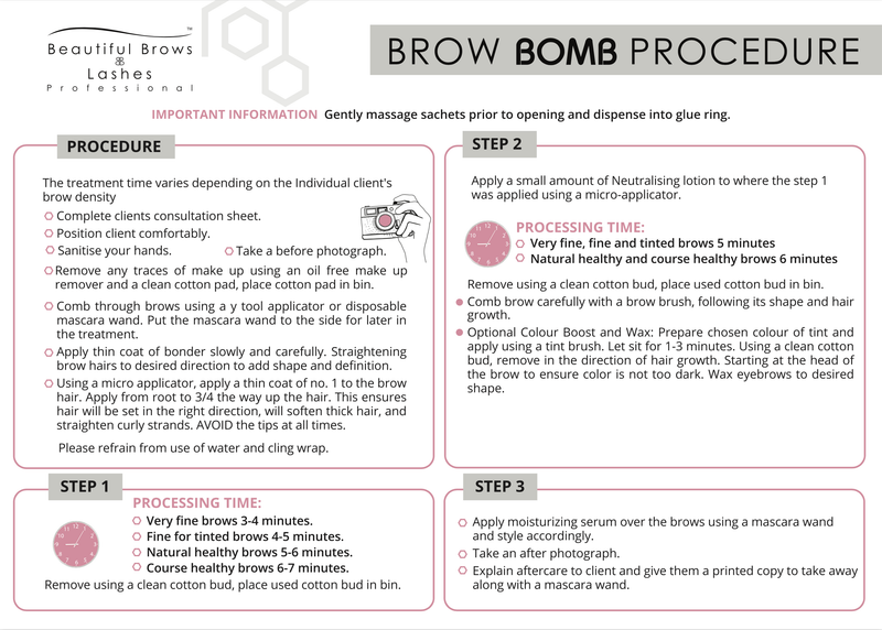 Lash & Brow Bomb Procedure Simplified - Beautiful Brows and Lashes Professional