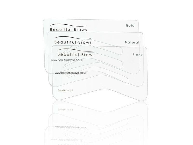 Wholesale Beautiful Brows Eyebrow Stencil Set of 6 - 5 Pieces - Beautiful Brows and Lashes Professional