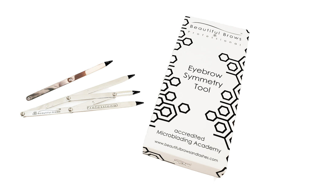 Eyebrow Measuring Symmetry Tool - Beautiful Brows and Lashes Professional