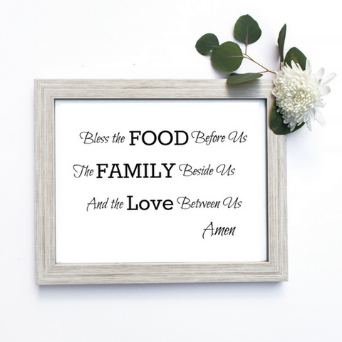 Food, Family & Love Printable Wall Art
