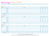 When you have gestational diabetes it is very important to keep your sugar levels even.  Use this Blood Sugar Tracking Sheet to help control your gestational diabetes blood sugar levels.