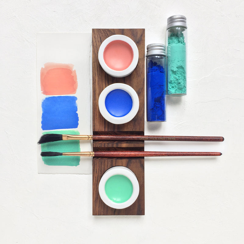 ceramic palette india water colour artist palettes bespoke wooden porcelain stationery