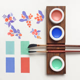 water colour artist palettes bespoke wooden porcelain stationery