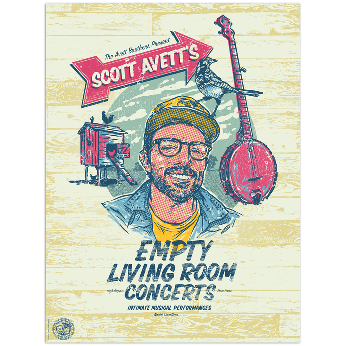 [PREORDER] Scott Empty Living Room Concerts Poster