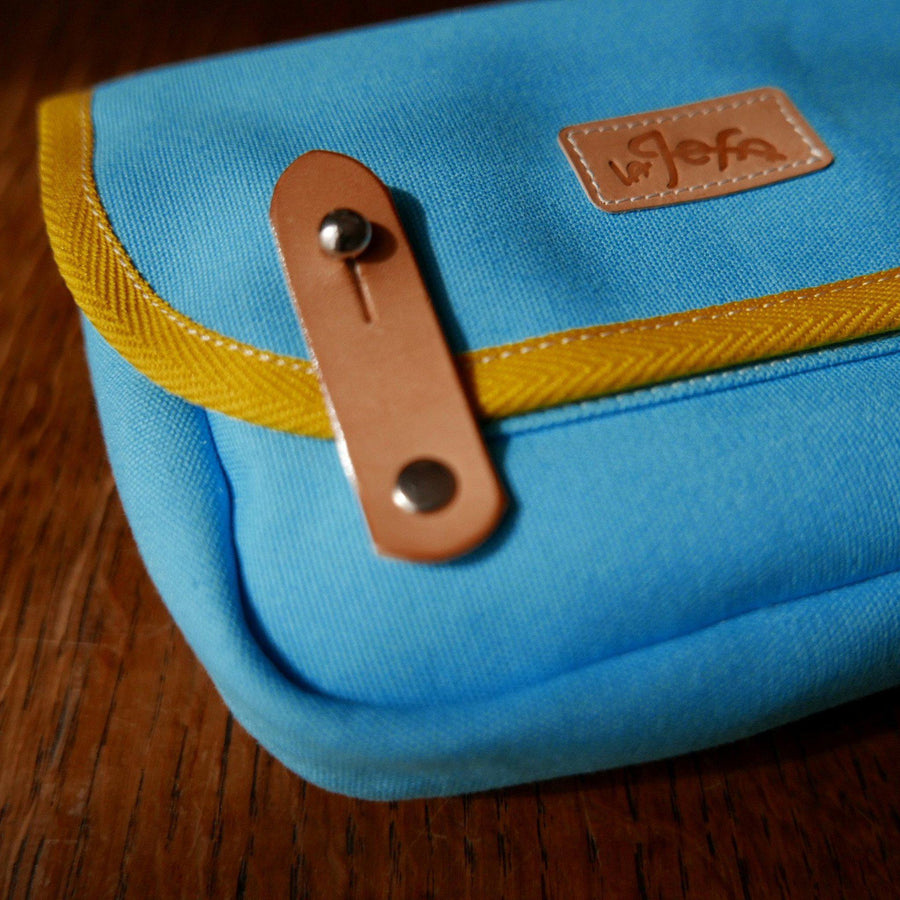 Corporal in sky blue saddle bag - La Jefa and sons