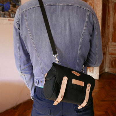 Gooralka - Black - Handlebar bag - Saddle bag - Shoulder bag - La Jefa and sons