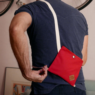 Nano musette - Red monochromatic shoulder bag - La Jefa and sons