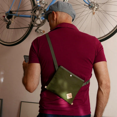 Nano musette - Olive green shoulder bag - La Jefa and sons