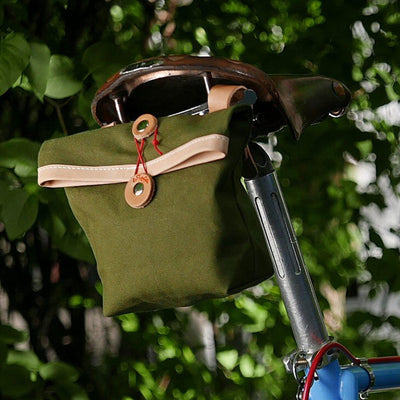 Private in olive green saddle bag - La Jefa and sons