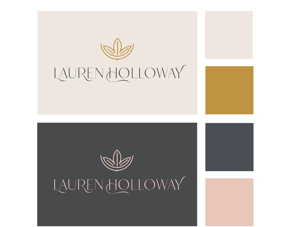 Lauren Holloway logo and brand colours