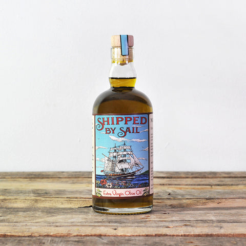 Olive oil shipped by sail
