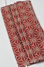 Load image into Gallery viewer, Pleated Face Covering - Red Sashiko