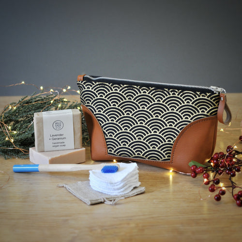 Luxury Eco Gift Set - Black & Gold Wave