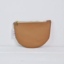 Load image into Gallery viewer, Recycled Leather Pouch - Mocha