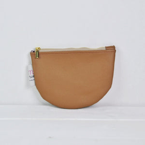 Recycled Leather Pouch - Mocha