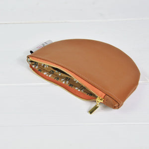 Recycled Leather Pouch - Terracotta