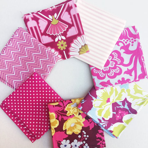 Fabric Bundle - Pretty Pink 7 pack