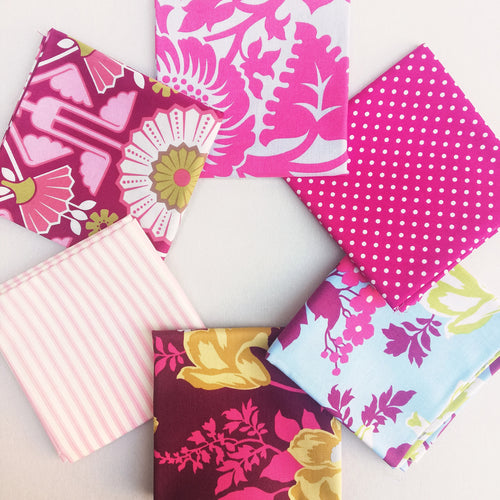 Fabric Bundle - Pretty Pink 6 pack