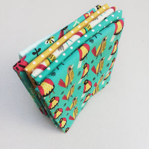 Fabric Bundle - Birds & Polka Dots