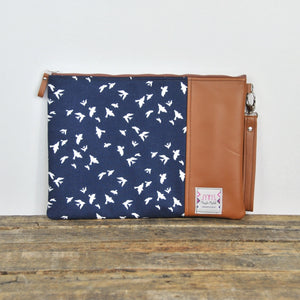 Laptop Case - Blue and Gold Bird