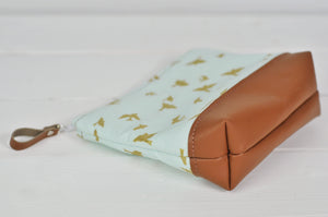 Make up Bag - Gold Birds