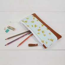 Load image into Gallery viewer, Pencil Case - Gold Birds