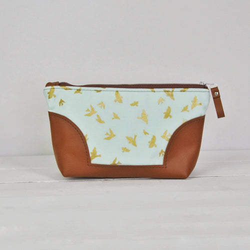 Toiletry Bag - Gold Bird