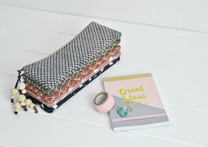 Small zipped pouch pencil cases