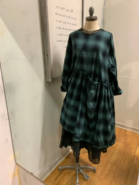 Wee Dress in Hunter Plaid