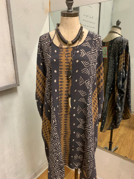 Canary Tunic in Woodblock