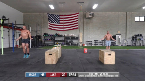 Weighted Double Under and Burpee workout with Jacob Heppner