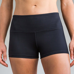 Fleo Black High-Rise Shorts Shorts