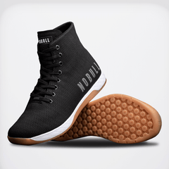 NOBULL Black White Gum High-Top Trainers