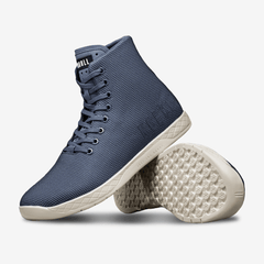 NOBULL Navy Ivory High-Top Trainers