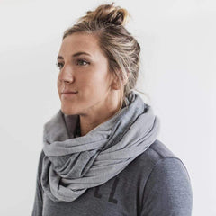 NOBULL Two-Tone Infinity Scarf Scarves One Size / Grey/Light Grey / Unisex