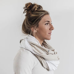NOBULL Two-Tone Infinity Scarf Scarves One Size / Oatmeal/White / Female
