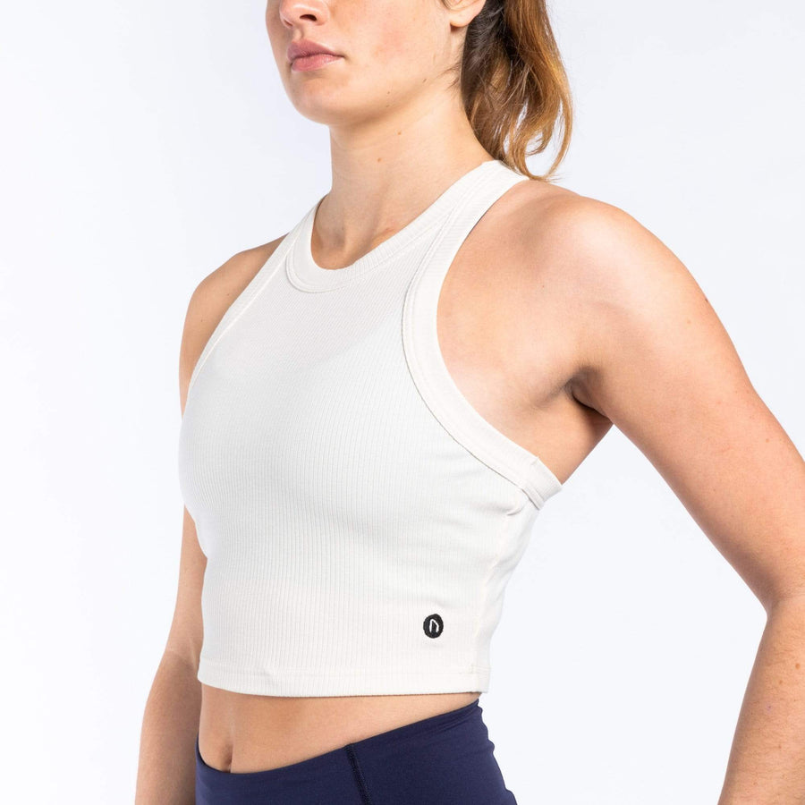 WIT Derby Rib Crop Tank Tanks