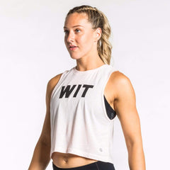 WIT Logo Crop Tank Tanks