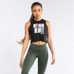 WIT Made Me Do It Crop Tank Tanks