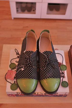Polka Dots - Black and Green