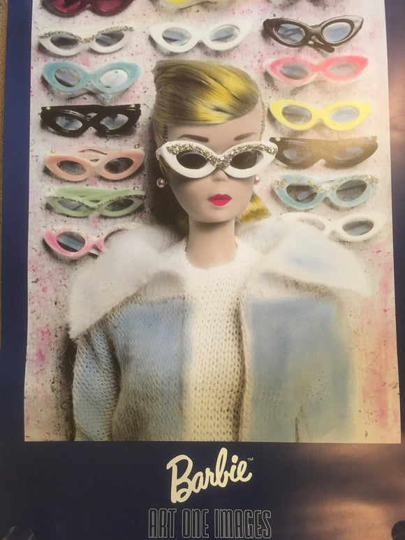 "Rare Vintage 1989 NOS Barbie Jumbo Poster by Art One Images - 24"" x 36"""