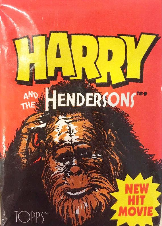 1987 Harry and the Hendersons - Wax Pack of Trading Cards