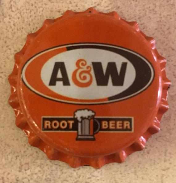 A and W Soda Bottle Caps