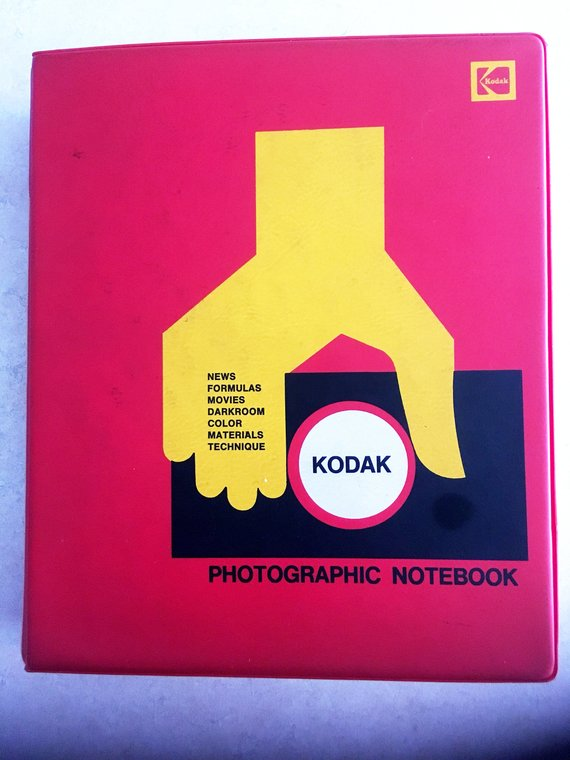 Kodak Photographic Notebook - Vintage 1968 Kodak Manual Binder