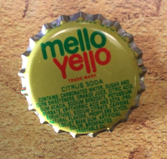 Vintage Mello Yello Bottle Caps